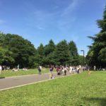 代々木公園で青空の下飲む!