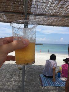 東京都大島とビール